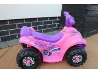Evo Evolution Pink Electric Ride on Quad 6V RRP Tesco £48