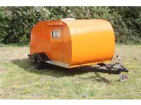 retro teardrop caravan trailer