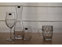 NEW Dartington Crystal Signature 2 Wine Glasses & 6 Tumblers + Decanter