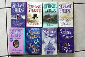 8 Stephanie Laurens paperback books FREE POST