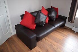 Julian Bowen Sofa bed - Chocolate colour