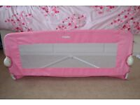 Infant folding bed rail in pink