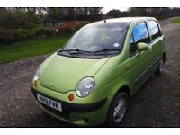 Daewoo Matiz 0.8 SE+ 5dr One Lady Owner from new! Full Service History.