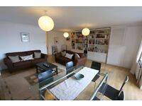 Three DOUBLE Bedroom duplex flat with direct river views, balcony, off street parking, large lounge