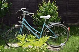 Vintage Ladies/Girls Classic Miss Peugeot French Town Bike, light blue, 5 Speed