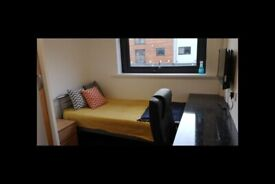 STUDENT ROOMS TO RENT IN LOUGHBOROUGH. ENSUITE ROOM WITH SINGLE BED, WARDROBE AND FREE PARKING