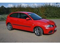2007 Seat Ibiza 1.4 Formula Sport 3dr Red **one lady owner ** MOT until August 2017