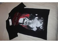 Star Wars The Last Jedi Stormtrooper BLACK COTTON T-Shirt BNWT MENS SIZE M MEDIUM or L LARGE