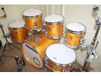 "Premier XPK Natural Lacquered Birch & Eucalyptus Woods 6 Piece Drum Kit (20"" Bass) - DRUMS ONLY"