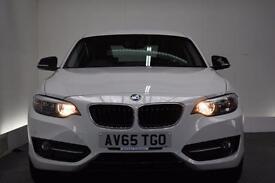 BMW 2 SERIES 1.5 218I SPORT 2d 134 BHP (white) 2015