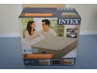 Intex Ultra Plush Queen size air bed with built in electric pump, flocked (FREE protector cover)