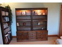 Wood Bros. Old Charm Solid Oak - Medium Oak - Sideboard and Dresser 190 x 183 x 50 cm (hwd)
