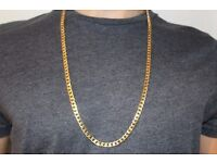 """30"""" gold coloured necklace"""