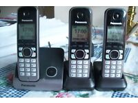 Panasonic KX-TGB213EB Cordless DECT Phone - Trio