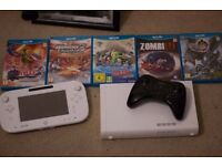 Wii U with Pro Controller and 5 games