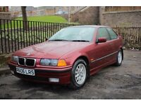 Museum Condition E36 BMW 3 SERIES 316i COMPACT, Only 45k Miles, One former keeper, Finest example