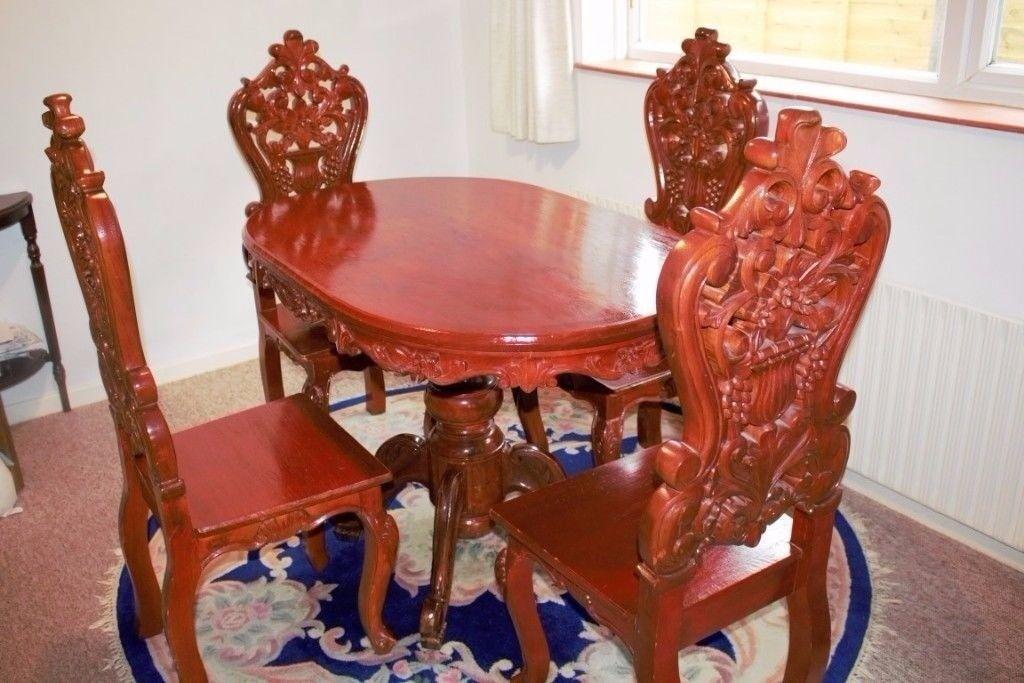 Dining Table 4 Chairs Narra Wood Very Hard Long Lasting In Poringland Norfolk Gumtree