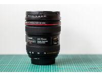 Canon EF 24-70mm f/4 L IS USM Lens with Lens Hood, Lens Caps, Lens Bag, UV Filter