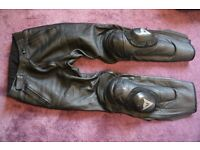 Motorcycle leather trousers Dainese size 48