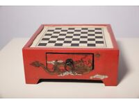 Vintage Japanese Chess Board (chess missing)