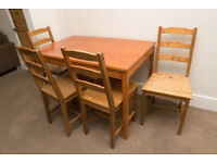 Ikea Jokkmokk Table & Chairs