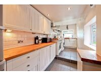 Beautiful 2 bed cottage near shops, quiet, garden, free parking, good schools, loft, LOW FEES