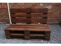Bench from reclaimed pallets