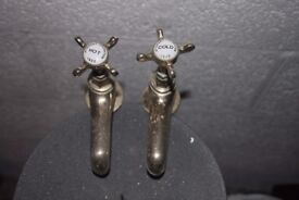 2 sets of brass basin taps - will sell as single pairs