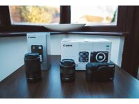 Canon EOS M3 Compact System Camera including two lenses and 128 GB SD card