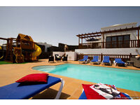 Luxury Villa VL44 in Lanzarote Playa Blanca 5 Beds Sleeps 12 Panoramic Sea Views Hot Tub Play Area