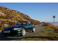 Mazda MX-5 Mk2 1.6l British Racing Green. Soft and hard tops. LOW mileage