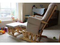 Maternity Nursing / Feeding Chair and Footstool