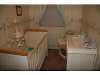 Cot bed, Wardrobe & Chest of Drawers/Changing Unit - Humphreys Corner (Ivory)