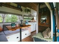 VW LT31 Campervan Conversion - Custom Wood Interior