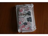 New white and pink sparkly mobile phone case fits Sony experia M2