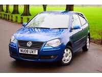 2008 VW POLO MATCH 1.4 3 DOOR*WARRANTY*CD CHANGER*TINTED WINDOWS*GOOD SPECS*NEW MOT & SERVICE*