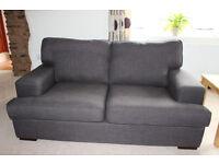 DFS 'Vine' Fabric Three Piece Sofa – Brown