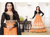 Brand New Semi Stitched Bollywood Designer Dresses Suits Maxi Dress