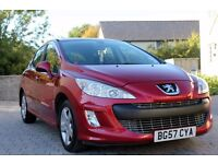 Peugeot 308 1.6 petrol Sport 5dr Low milage Perfect condition, No scratches, dents around.