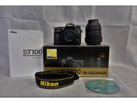 Nikon D7100 with 18-105 lens