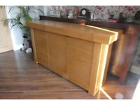 Modern Sideboard with 3 drawers and 3 cupboards 150cm wide, 44 cm deep and 80cm high