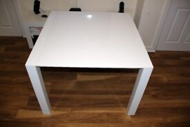 MADE Bramante Square Extending Dining Table, White RRP £399