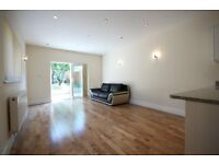 An excellent two bedroom flat with a large living reception and private garden.