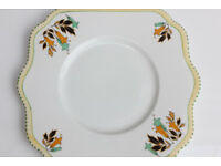 Old Vintage Avoca Ceramic Cake Plate Irish Ceramics Ireland Sandwich Plate Rare Ireland