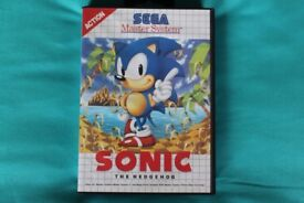 Sega Master System Sonic The Hedgehog Game - Complete with game cartridge and booklet.