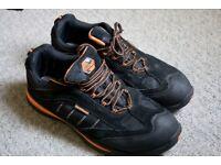 Earthworks Safety Shoes Orange Black