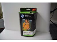 HP364 Ink Cartridge Pack Cyan, Magenta, Yellow plus 85 sheets photo paper BNIB