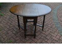 Solid Oak Gateleg Table