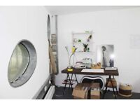STUDIO AVAILABLE (8 PPL) ON LONDON FIELDS IN WORKSPACE COMPLEX W/ CAFE, GALLERY, GYM, PHOTO STUDIO