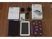 Samsung Galaxy Tab 2 7.0 GT-P3110 Boxed 8GB White with Two Cases